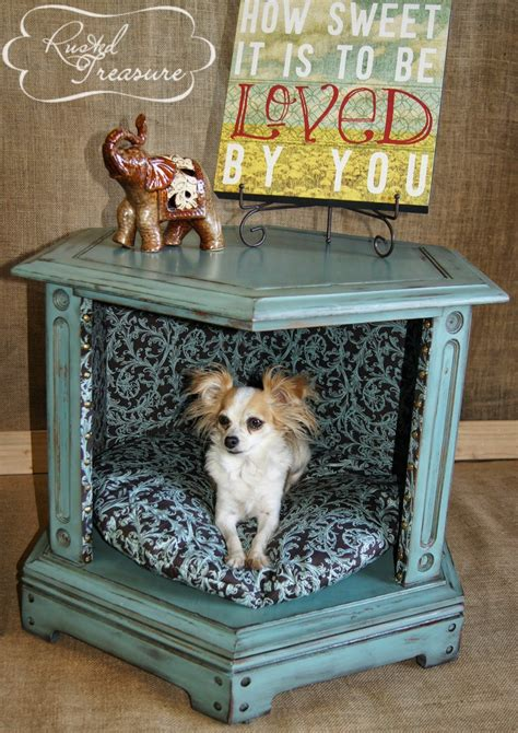 end table dog bed turn an old table into a new pet bed dipfeed