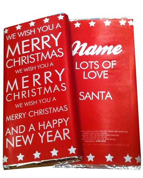 christmas chocolate greetings card by tailored chocolates