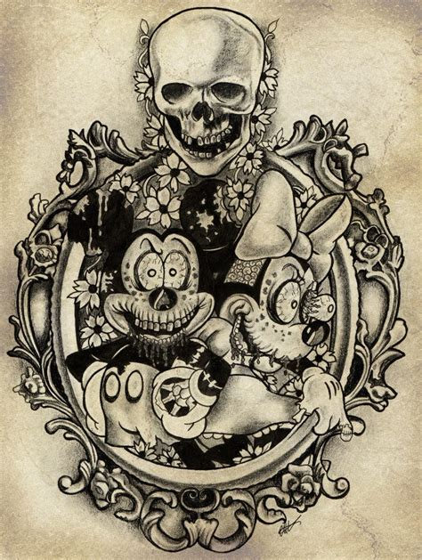 mickey zombie by cha illustration on deviantart