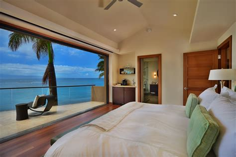 bedroom view jewel of kahana house beachside in maui hawaii