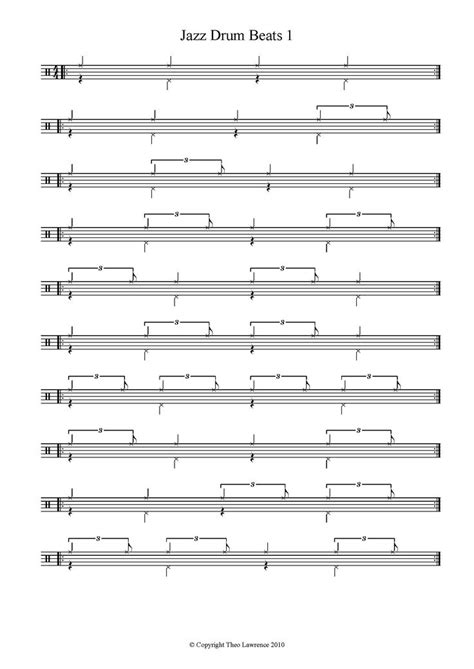 same pattern as drum basic jazz drum patterns drums pinterest drum