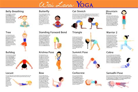 yoga for kids free printable poster collection the gallery for gt yoga poses for kids poster