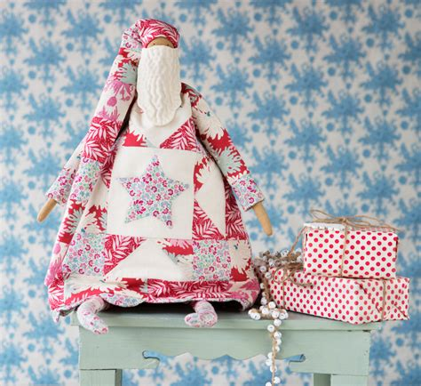 Patchwork Santa - tildas world