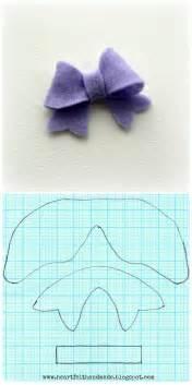 hair bow templates the gallery for gt felt hair bow template