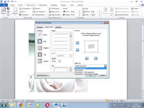cara membuat bingkai keren di ms word tutorial software cara membuat bingkai keren di ms word linkin komputer