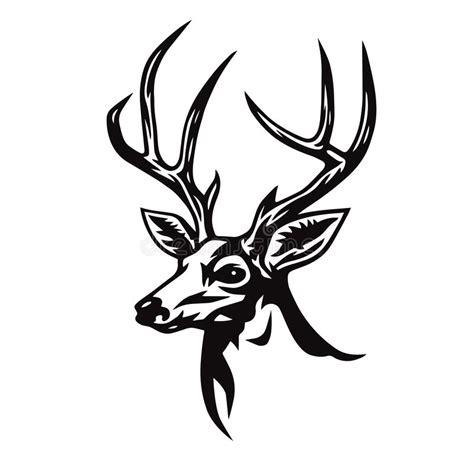 drer basic art series deer head stylized drawing logo template vector illustration stock vector illustration of