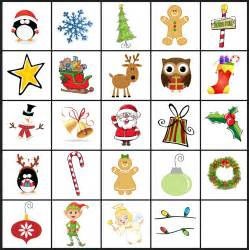 Printable Bingo Christmas Memory Game