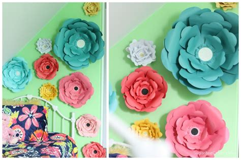 How To Make Paper Flower Wall Decorations - big bloom paper flower wall decor sugar bee crafts