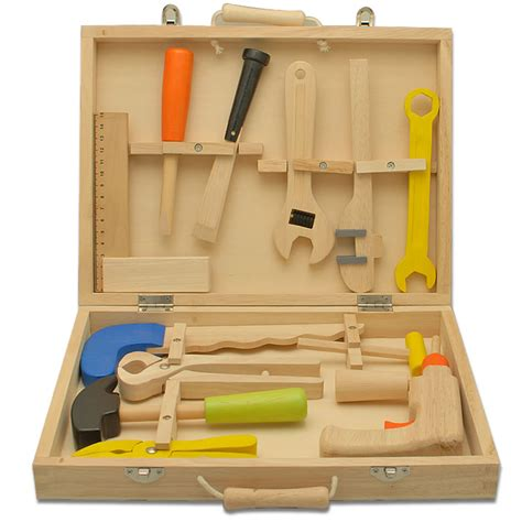 childrens tool set personalised children s wooden tool set engraved by