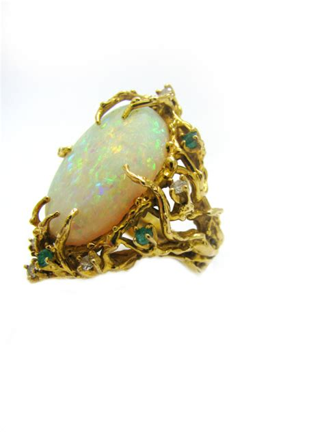 nathan cabot opal gold ring 1960 klosterman
