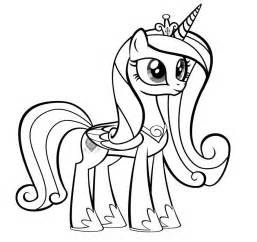 coloring pages princess pony princess cadence my pony coloring page az