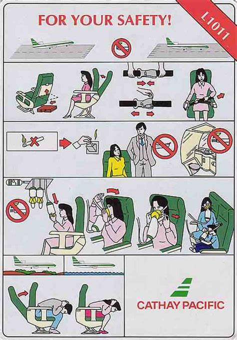 Collection Of Airline Safety Cards by 1000 Images About Airplane Safety Card On