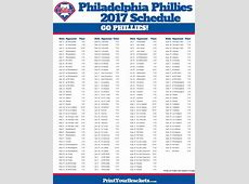 2017 Philadelphia Phillies Schedule | Printable MLB ... 2017 Texas Rangers Schedule Printable