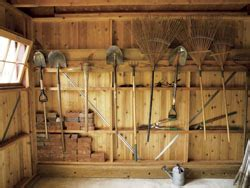 Shed Interiors And Storage Ideas by Colonial Style Two In One Shed Plans