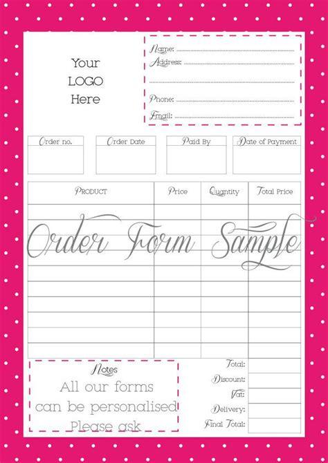printable custom order forms order form custom order form printable work at home