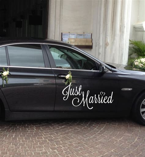 Auto Sticker Just Married by Just Married Auto Sticker Danta S Import