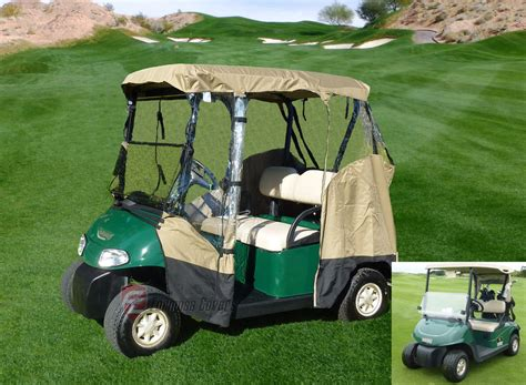 3 Sided Golf Cart Enclosures by 3 Sided Drivable Golf Cart 2 Seater Enclosure Fit E Z Go