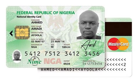 national id card template mastercard backed biometric id system launched in nigeria
