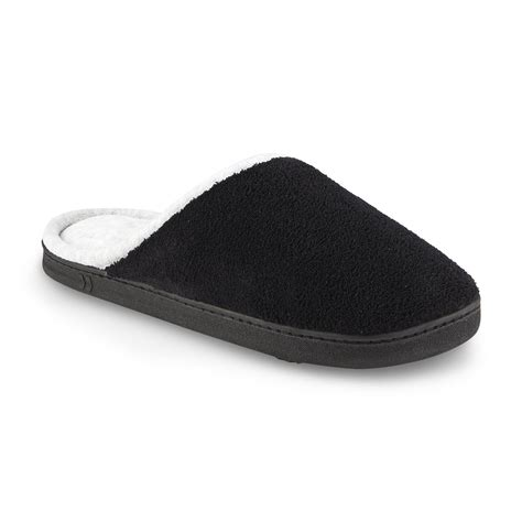 wide width clogs for isotoner s chukka wide width clog slipper black