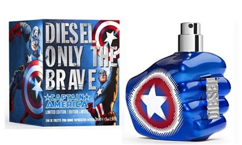 diesel only the brave captain america new fragrances