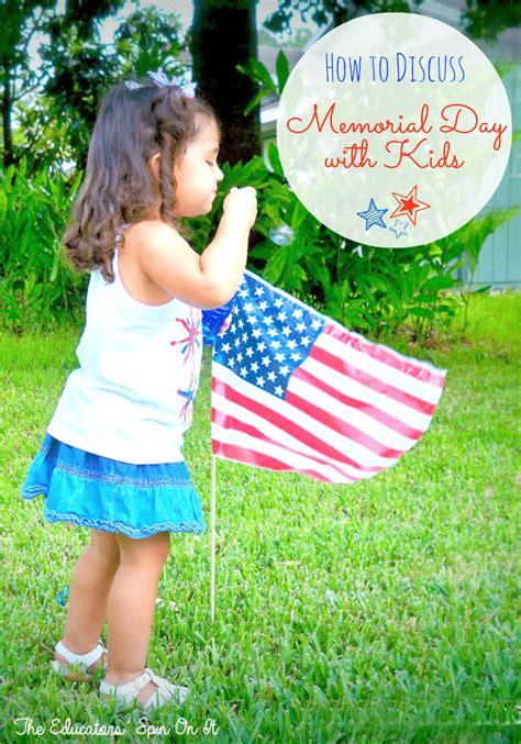 sharing memorial day  kids  educators spin