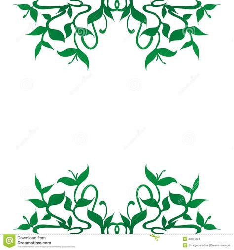 flourishing plant decoration for frame border stock images