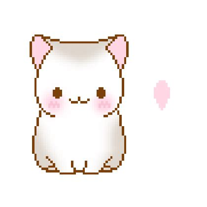 quotev layout icons 40 super cute animated cat kawaii pixel art gifs best