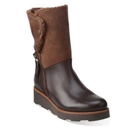 clarks boots womens okemo brown leather clarks womens shoes womens
