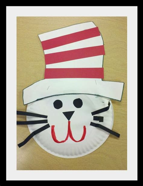 Cat In The Hat Paper Plate Craft - dr seuss paper plates and hats on