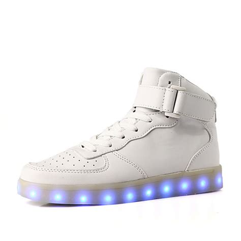 Hi Top Light Up Sneakers White 183 Foreveronline 183