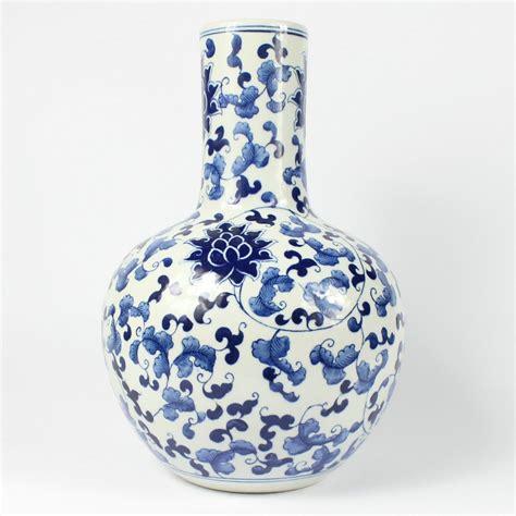 rzal11 14 5inch jingdezhen ceramic blue vase wholesale in