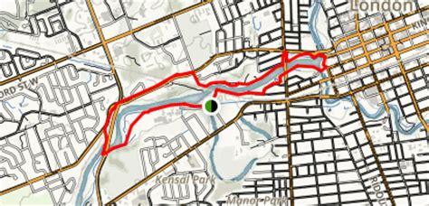 thames river walk map thames river walk loop ontario alltrails com