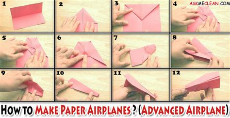 How To Make Fast Paper Airplanes Step By Step - make paper planes that fly far askmecleanblog