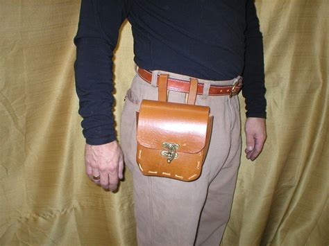 Handmade Tool Belt - handmade rugged leather tool belt pouch possible bag