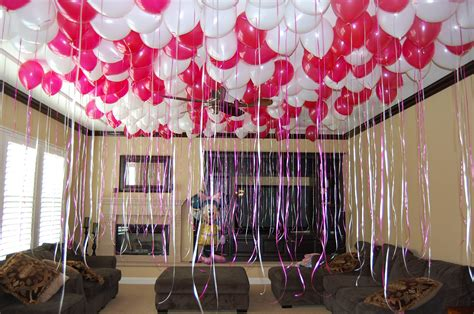Decorating A Room With Balloons by Balloon Decoration For Birthday In Room Image