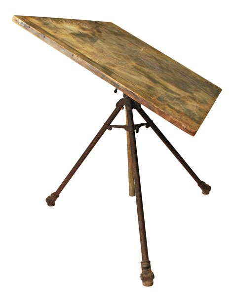 vintage wood drafting table vintage industrial wood iron drafting table chairish