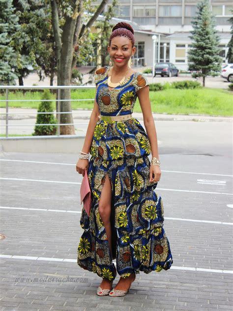 Ankara Long Dress Styles | long ankara dress with front slit modavracha