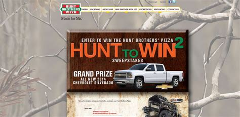 Hunt Brothers Pizza Sweepstakes - hunt brothers pizza hunt to win 2 sweepstakes
