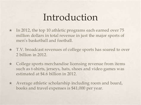 Should College Athletes Be Paid Essay by College Athletes Should Be Paid
