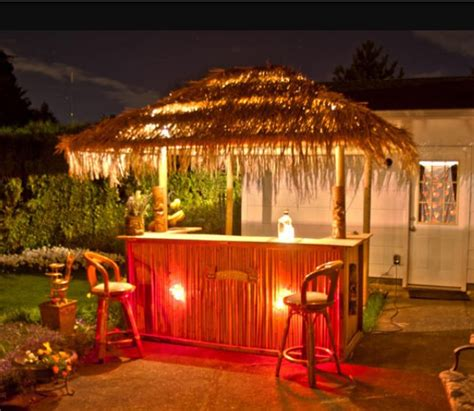 the tiki bar in new home backyard decor