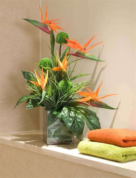 artificial floral arrangements birds of paradise and alliums in a glass cube rtfact artificial silk flowers floral