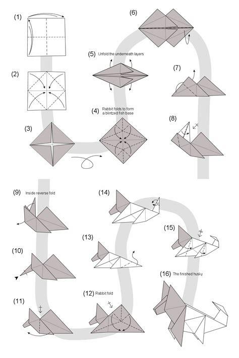 Origami Husky - origami husky comot