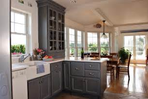 Gray Kitchen Cabinets Ideas by Gray Is The New White In Kitchens Encore Construction