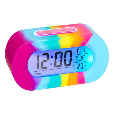Alarm Silicon image for silicone rainbow talking clock from smiggle uk