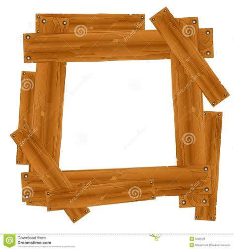 wooden plank frame border stock illustration illustration