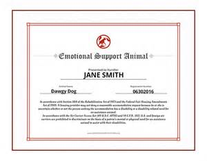 Emotional Support Animal Letter Requirements Exle Service Certification Emotional Supportcasanovacertificates