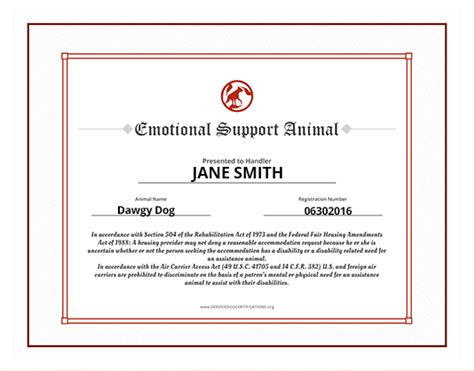 fair housing act emotional support animal emotional support animal id service dog certifications