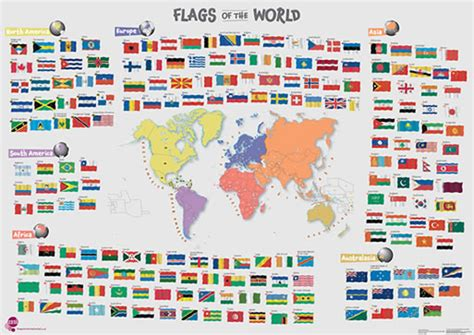 large printable flags of the world large flags of the world children s poster images frompo