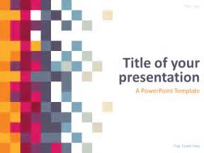 free template powerpoint pixel powerpoint template presentationgo