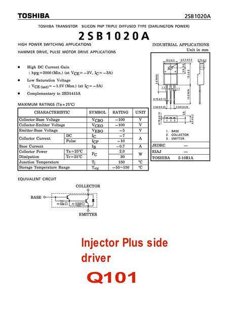 Transistor D1415 the 8valve ecu 56bxx